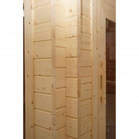 Udendørs sauna Infrarød Sungarden Multi-sauna Multi-sauna til 4 til 5 personer Størrelse: 1780 x 1780 x 2409 mm Træ: finsk grå