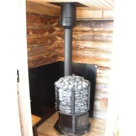 Tilbehør til en opvarmet saunaovn Vægbeskyttelsesplade Sort 800x1000