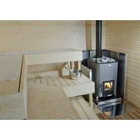 Narvi træfyret saunaovn Narvi NC 16 Til saunastørrelse Bastunstørrelse: 6-16 m3 Delt enhedNarvi 16, pålideligt aggregat
