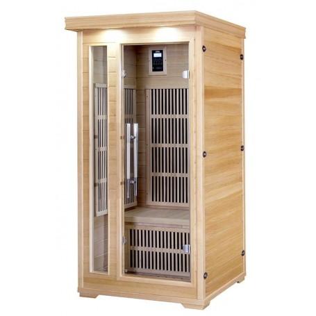 IR-sauna til 1 person. Størrelse: 900 x 900 x 1900 mm