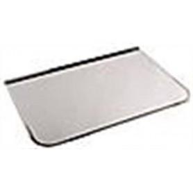 Tilbehør til opvarmet saunaovn. Forplade / gnistbeskyttelse Krom 700x400 mm