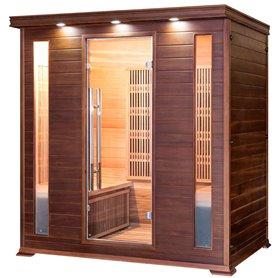 Sauna Infrarød til 3-4 personer Apollon Tourmaline 4 personer Infra-sauna til 4 personer Størrelse: 1750 x 1200 x 1900 mm Træ: C