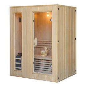 Sauna Traditionel klassisk til 3 personer Traditionel sauna til 3 personer. Størrelse: 1530 x 1100 x 1900 mm Træ: Hemlock