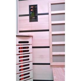 Sauna Infrarød til 3-4 pers. Vælg 3 personer Infra-sauna til 3 personer Størrelse: 1630 x 1050 x 1900 mmVed: Hem låg Varm