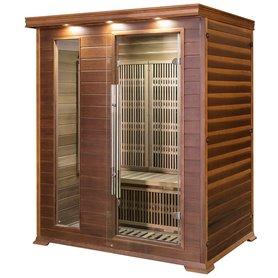 Sauna Infrarød til 3-4 personer Apollon Tourmaline 3 personer Infra-sauna til 3 personer Størrelse: 1530 x 1100 x 1900 mm Træ: C