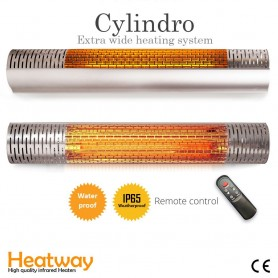 Patiovarmer HeatWay Cylindro 2000W Silver