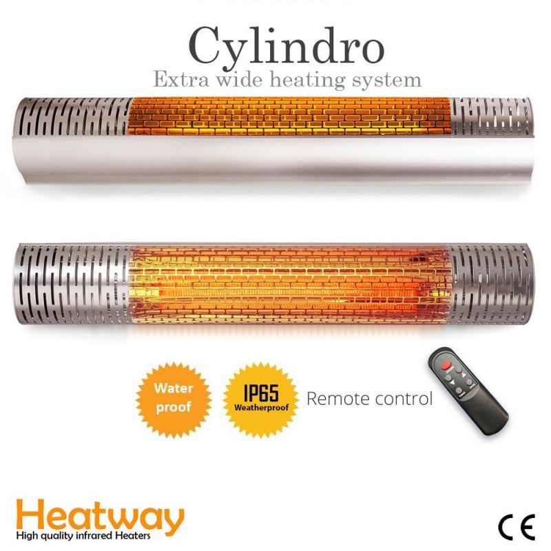 Patiovarmer HeatWay Cylindro 2000W Silver