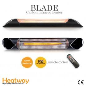 Patiovarmer Blade sort Infrarød varmeapparat
