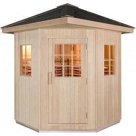 Stor udendørs sauna på 1500x1500mm