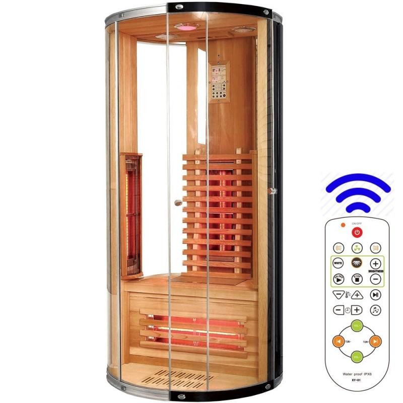 Jade enkelt rund infrarød sauna til 1 person Størrelse