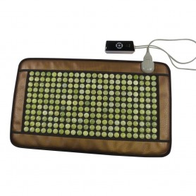 Infra madrasser Infra madras halvlegeme med Jade sten Dimensioner på varmemadras: Bredde: 480 mm Længde: 790 mmJade