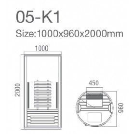 IR sauna Jade enkelt runde 16995 - 3