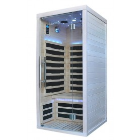 IR- sauna Glossy Hvidglaseret