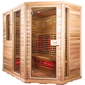 Sauna Relax Lux højre cedertræ