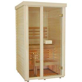 Sauna-rum i aspen - 110x110 cm