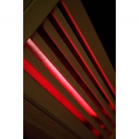 Hjørne Sauna Infrarød Amon GX Infra Sauna til 4 personer Størrelse: 1500 x 1500 x 2000 mmVed: Hemlock Varmesystem: Carbon Wave