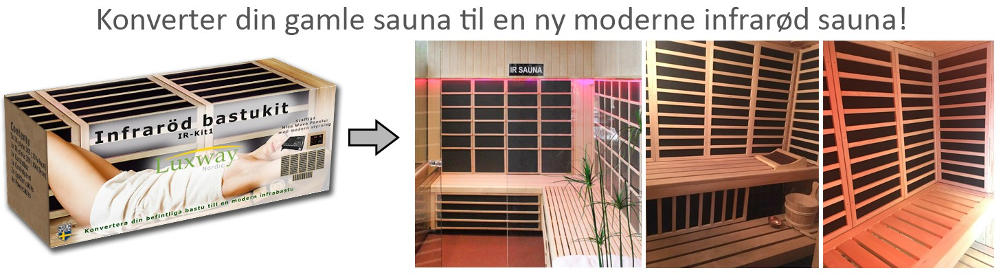 Bygg en ny moderne infrarød sauna